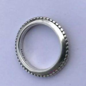 Pandora Forbidden Silver Stack Ring Sz 6